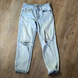 Vintage high rise straight jeans